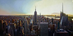 New York IX by Stephen Collett -  sized 39x20 inches. Available from Whitewall Galleries